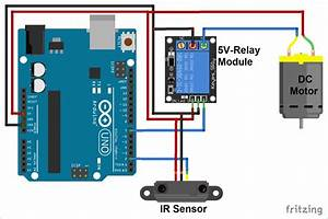Ir Controlled Dc Motor Using Arduino Uno