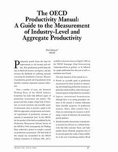 Pdf  The Oecd Productivity Manual  A Guide To The