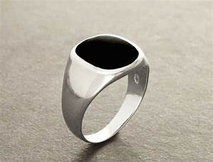 hipster ring black onyx ring silver 925 modern men With black onyx mens wedding ring