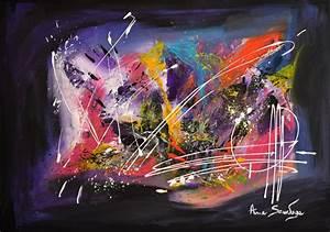 Tableau Peinture Moderne : tableaux abstraits contemporains flashy et design ~ Teatrodelosmanantiales.com Idées de Décoration