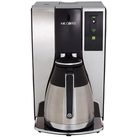 The thermal carafe allows coffee to stay hot and fresh for up to four hours. Mr. Coffee: 10-cup Optimal Brew 'Smart' Coffeemaker enabled by WeMo Reviews 2020