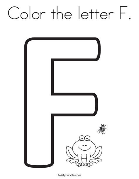 Coloring Letter F by Coloring Pages For The Letter F Coloring Home