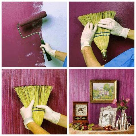 paint a room with cool broom effects