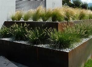 Mur En Gabion : arbora paysagiste le m tal mur en acier cl ture ~ Premium-room.com Idées de Décoration