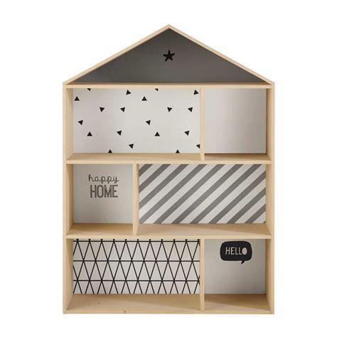 rangement chambre ado fille bibliothèque maison enfant en bois l 102 cm graphikids maisons du monde