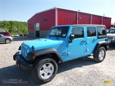 chief blue jeep 2017 jeep wrangler unlimited sport 4x4 in chief blue
