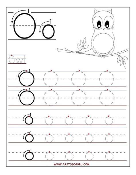 worksheets for preschoolers printable letter o tracing