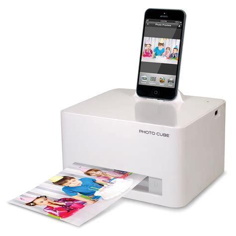 iphone 6 printer the iphone 5 6 photo printer hammacher schlemmer