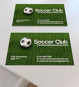 Soccer business card unique business cards for Soccer business cards