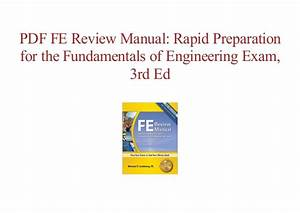 Fe Review Manual Lindeburg 3rd Edition Pdf  Fccmansfield Org