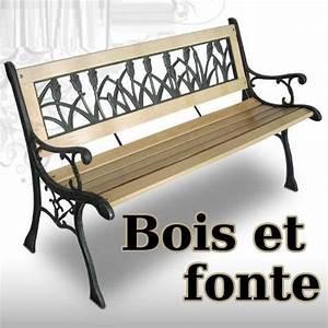 Banc De Jardin En Fonte : banc de jardin en bois massif et fonte 4 versions ~ Farleysfitness.com Idées de Décoration