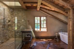 Rustic Bathroom Shower Walls