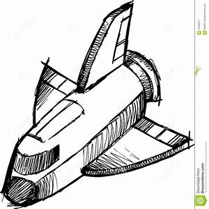 Sketchy Shuttle Rocket Vector Stock Vector - Image: 10399371