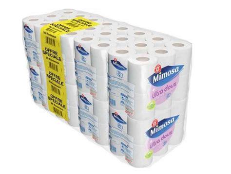 leclerc 96 rouleaux de papier toilette mimosa 224 10 85