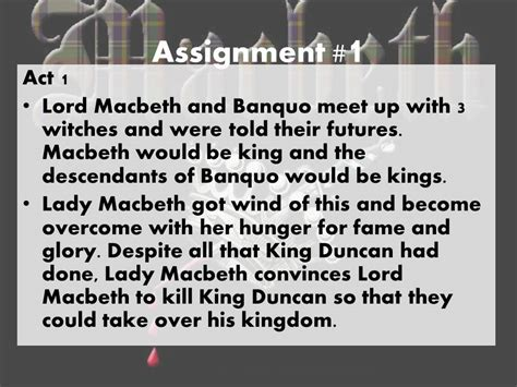 Macbeth Essay Assignments by Macbeth Assignments Thesisukm Web Fc2