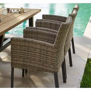 Fauteuil En Resine : fauteuil de jardin aura en aluminium et r sine tress e hesp ride ~ Teatrodelosmanantiales.com Idées de Décoration