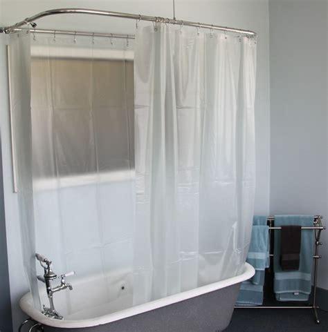 Tub Curtain by Bath Shower Convert Your Tub Into A Clawfoot