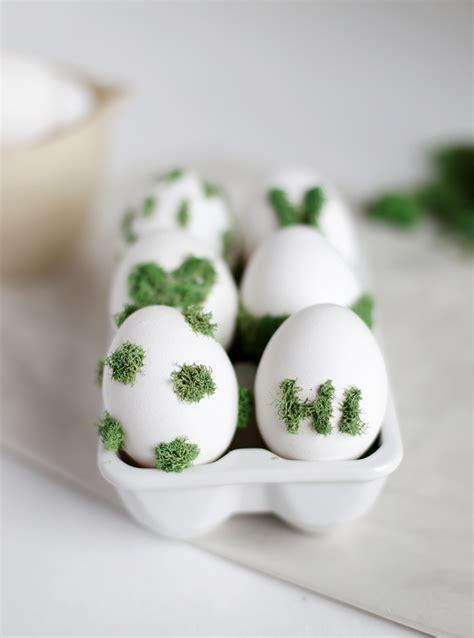 diy moss design eggs  merrythought
