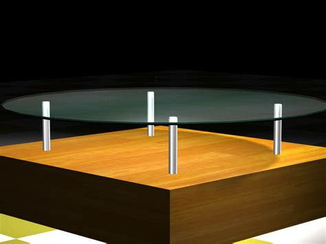 Nuevo costa round glass top coffee table. Round glass top coffee table with wood base 3d model 3D Studio,3ds max files free download ...