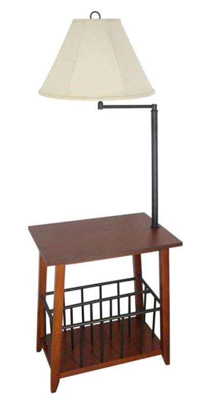 end table with attached l and magazine rack magazine rack with attached l