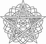 Coloring Pentagram Embroidery Pagan Urban Pentacle Urbanthreads Celtic Wiccan Elements Mandala Adult Five Patterns Template Unique Threads Colouring Printable Awesome sketch template
