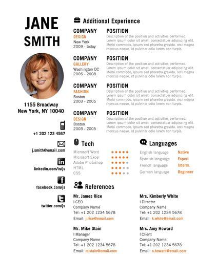 microsoft word creative resume orange 2pg0001