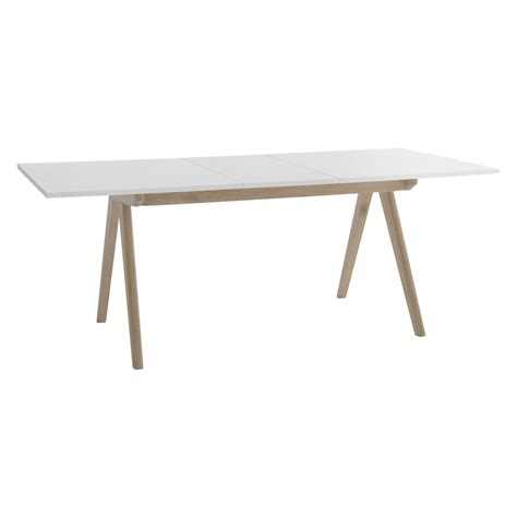 table cuisine habitat jerry 4 8 seat white extending dining table buy now at