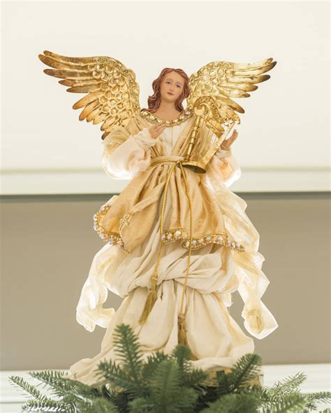 tree top angels gold tree topper balsam hill