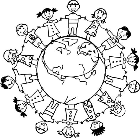 word kids earth globe coloring page wecoloringpagecom