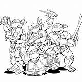 Coloring Pages Ninja Teenage Turtle Easy Mutant Turtles Popular Printable sketch template