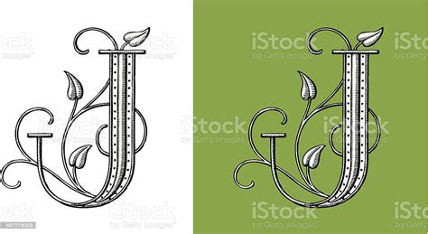 letter  original decorative typeface monogram stock illustration  image  istock