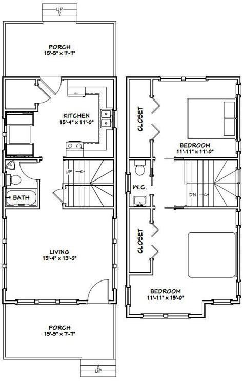 16x32 House #16X32H14 964 sq ft Excellent Floor