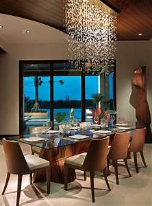 10, Beautiful, Dining, Rooms, With, Hanging, Lights