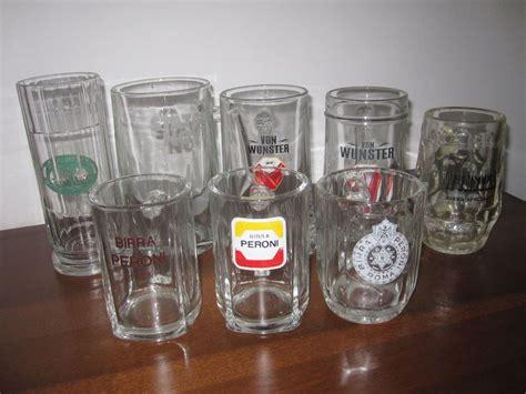 bicchieri peroni 8 boccali bicchieri wunster peroni statale