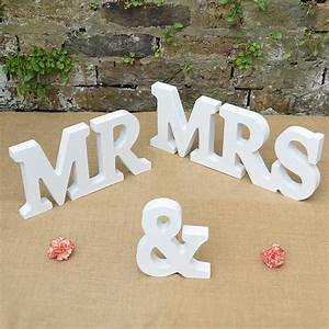 new mr and mrs sign mr mrs letters top table decoration With mr and mrs letters for wedding
