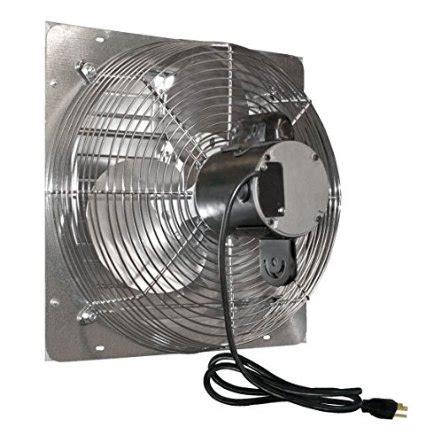 warehouse exhaust fan installation exhaust fan with shutter 12 hydro gardens