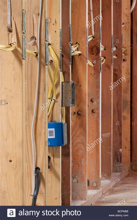 electrical wires running  wall studs
