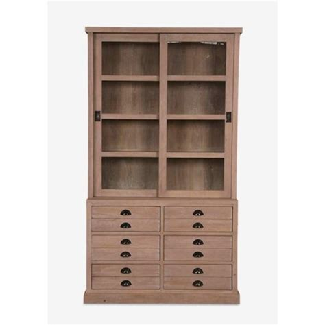 Bookcase Ls by Ls Edward Bookcase W Sliding Doors And 6 Drawers K D