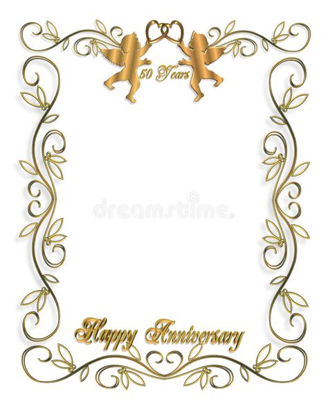 Wedding Invitation Gold 50th Stock Images Image: 5814894