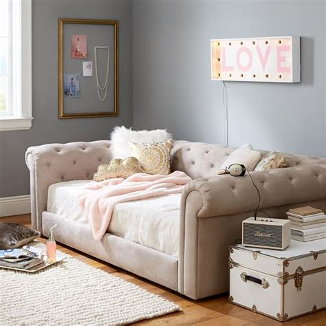 pottery barn teen daybed cushy roll arm daybed pbteen