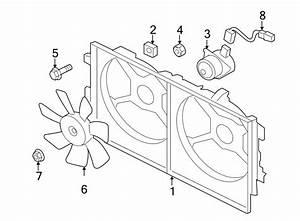 Mitsubishi Lancer Bolt  Fan  Cooling  Shroud  Radiator  2