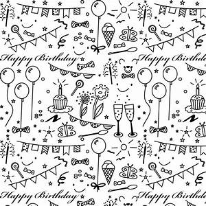 Free printable birthday coloring paper - ausdruckbares
