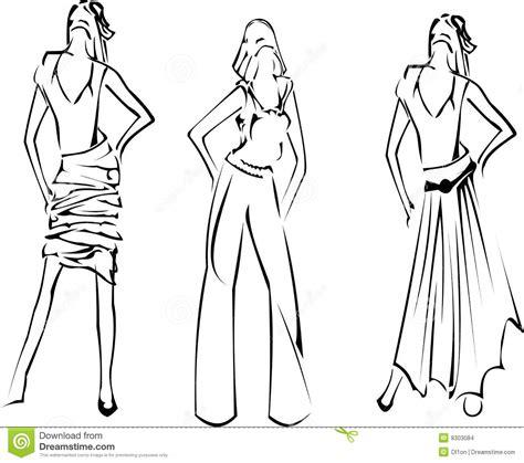 stylish page fashion girls designer sketch stock images image 8303084