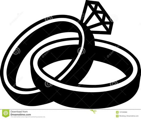 wedding rings marriage stock vector illustration of 107206966