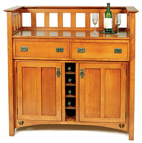 arts  crafts wine cabinet finewoodworking