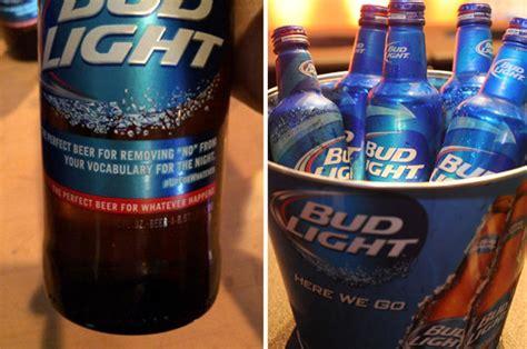 bud light beer bottles promote rape culture  twitter