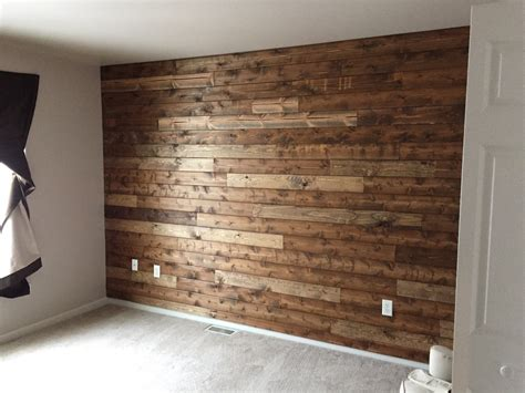 Wand In Holzoptik by Wooden Accent Wall Tutorial