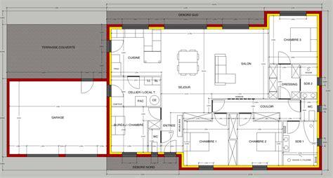 plan plain pied 2 chambres avis sur plan de maison plain pied de 150m2 36 messages