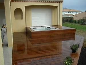 Spa Bois Exterieur : contour ext rieur en bois pour spa terrasses en bois ~ Premium-room.com Idées de Décoration