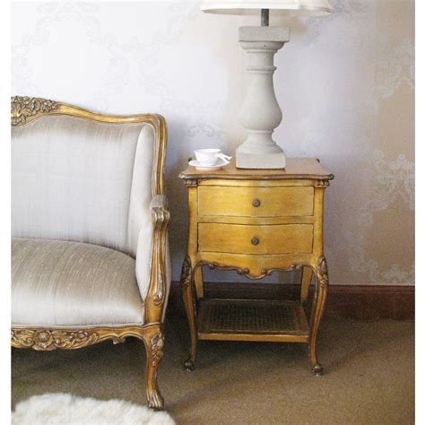 The Bedroom Company by Versailles Gold Bedroom Sofa With Silk Upholstery